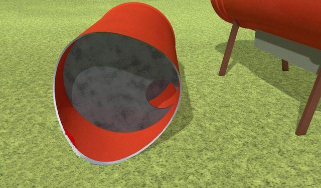 Внутри корпуса вертикального баллона устанавливаются перемычки с противоположно расположенными отверстиями
