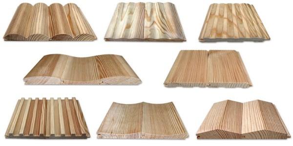 Вагонка деревянная - виды