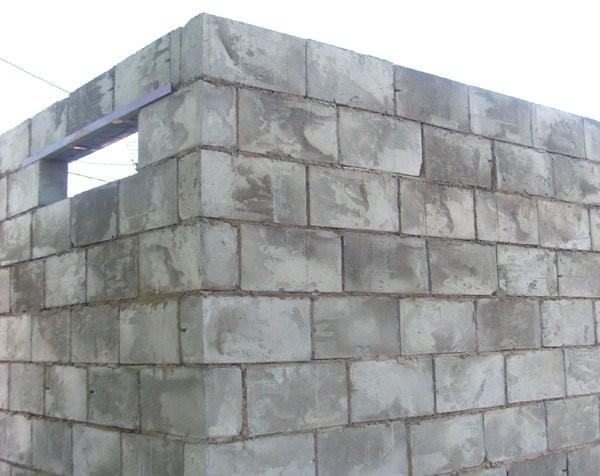 Возведение стен из шлакоблока
