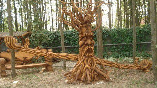 Деревянные качели балансиры