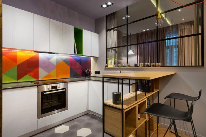 Дизайн зоны кухни в квартире-студии