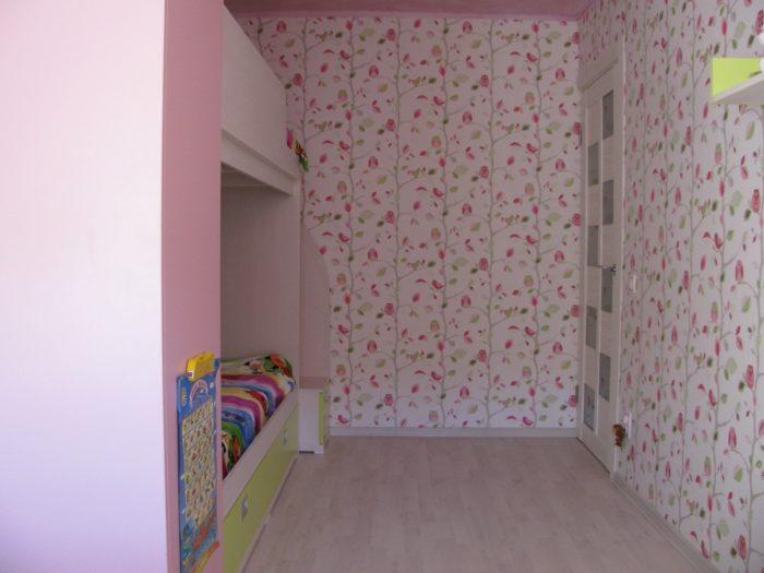 Дизайн розовой детской для девочек