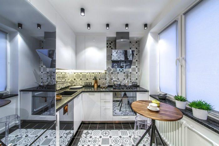 Дизайн современной угловой кухни в хрущевке