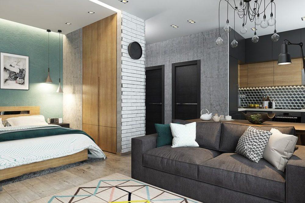Дизайн спальни-студии