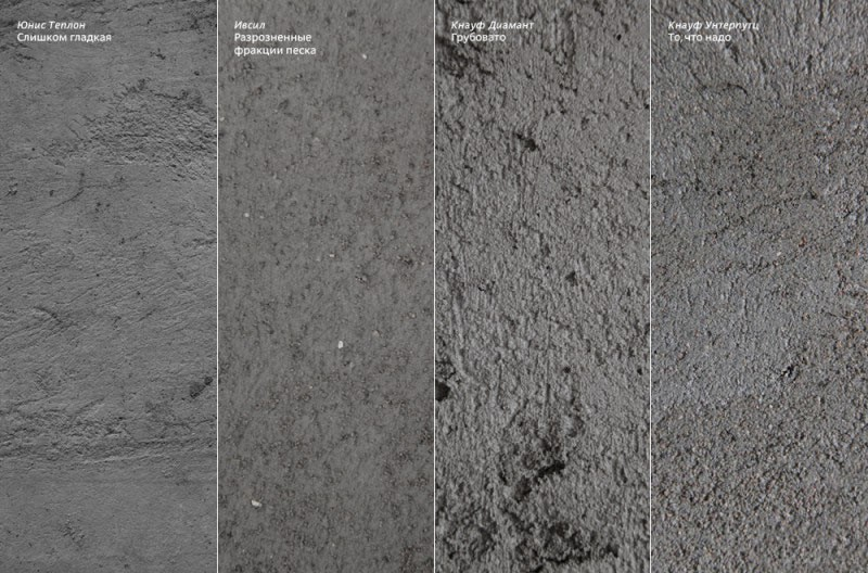 Зернистость цементной штукатурки