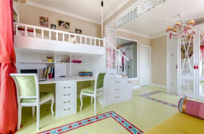 Классическая белая мебель в детской