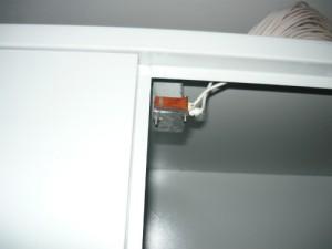 Концевой выключатель для отключения вентилятора