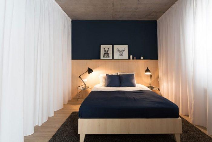Лофт в небольшой спальне