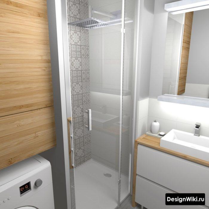 Маленькая ванная в хрущевке с душем