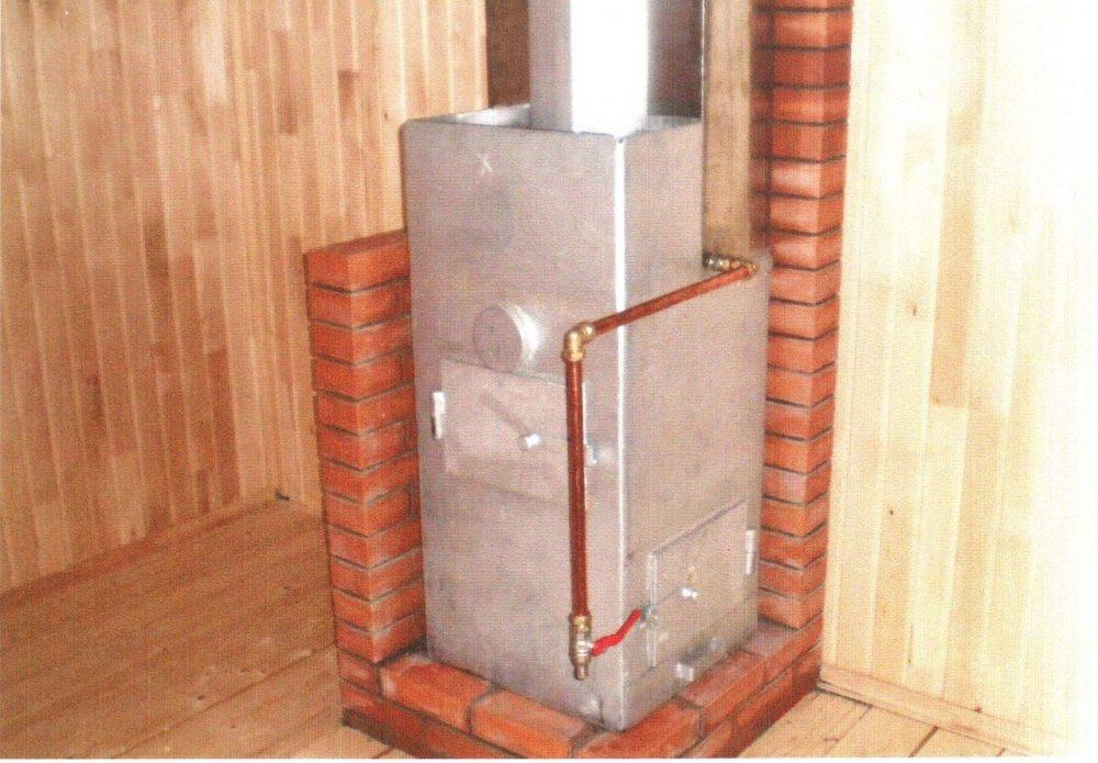 Один из вариантов металлического котла с медной обвязкой