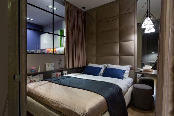 Оформление спальной зоны в квартире-студии