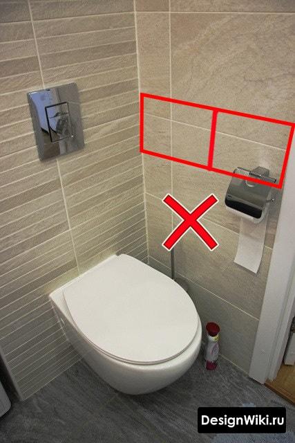 Ошибка при отделке плиткой на углах #дизайн #ваннаякомната