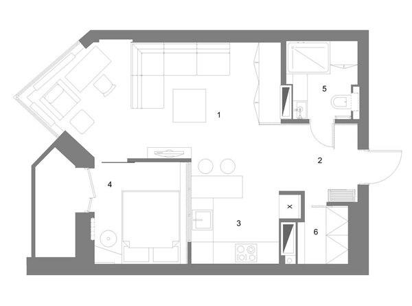 Правильная планировка квартиры-студии