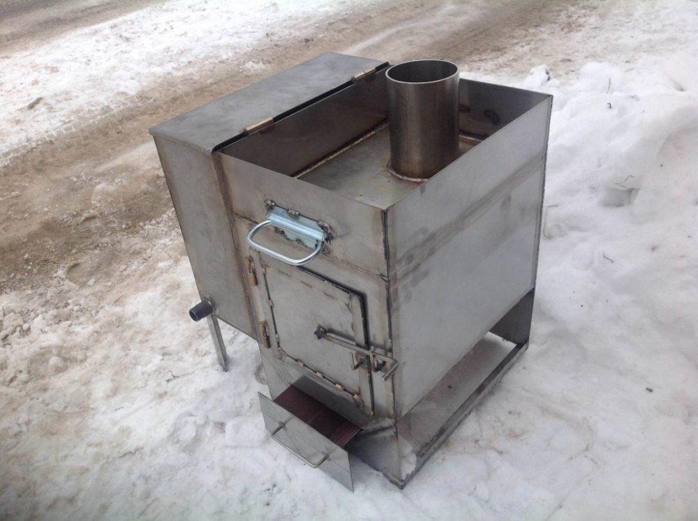 Пример банной печи из металла