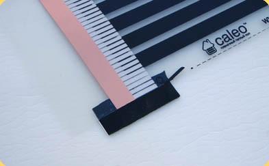 Пример правильной установки изоляции линии отреза медной шины