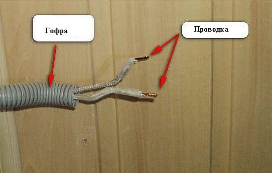 Проводка в бане