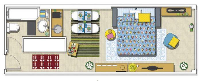 Расстановка мебели в узкой прямоугольной студии