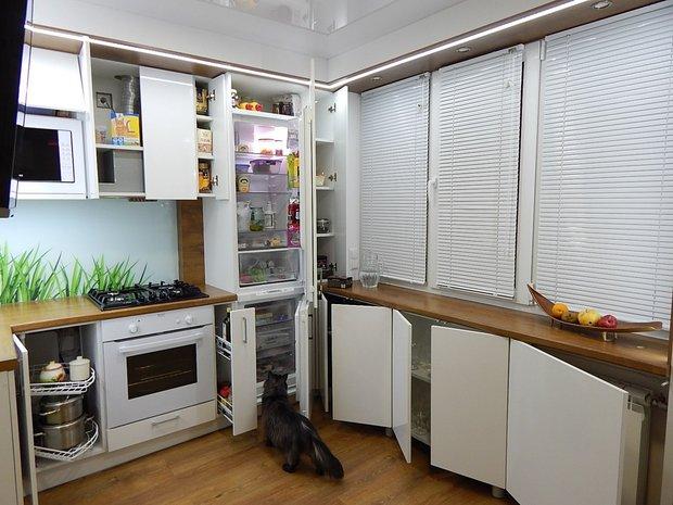 Реальное фото дизайна кухни в хрущёвке