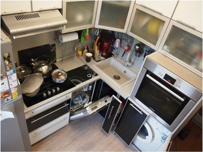 Реальное фото кухни в хрущевке