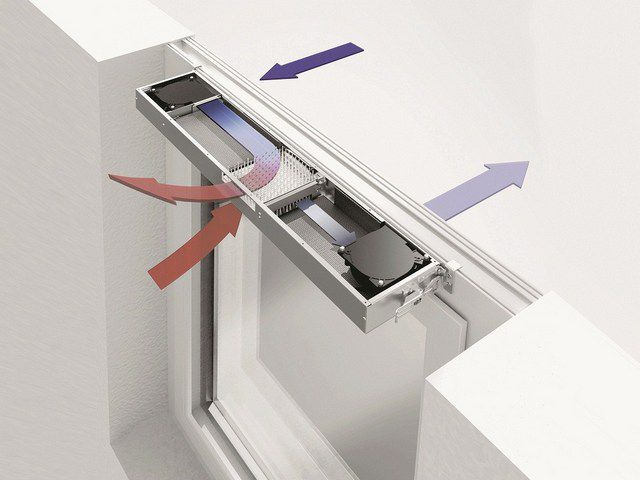 Примерная схема прохождения воздушных потоков через вентиляционный клапан