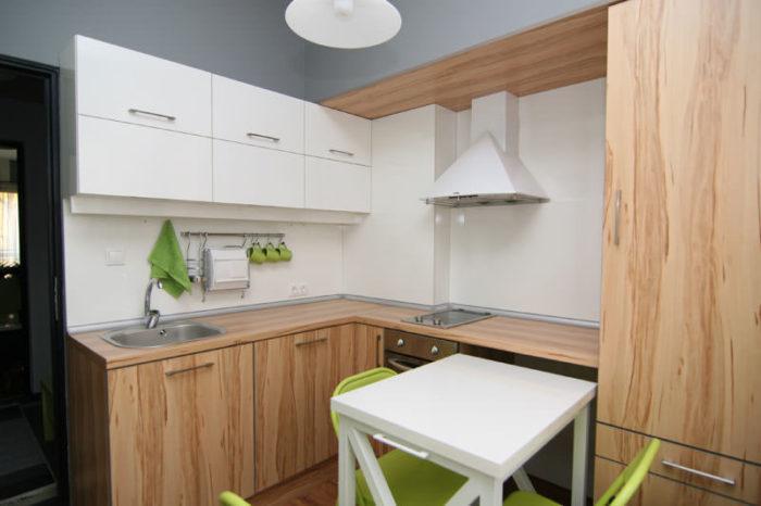 Скандинавский стиль на кухне в хрущевке