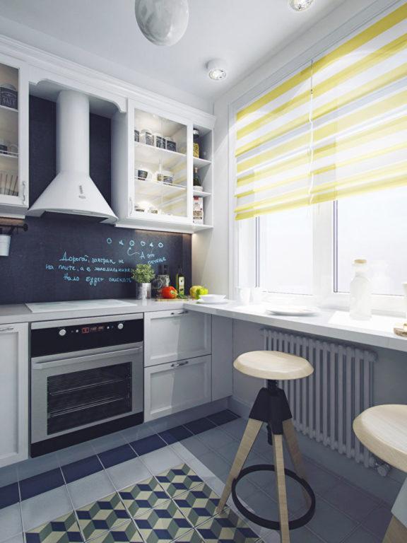 Современная классика на маленькой кухне