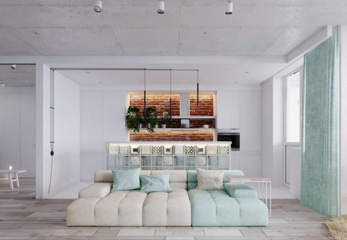 Современный дизайн-проект квартиры-студии