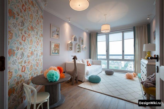 Стильный современный интерьер комнаты для девочки-подростка