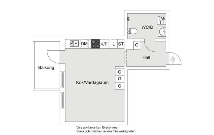 Шведская планировка квартиры студии