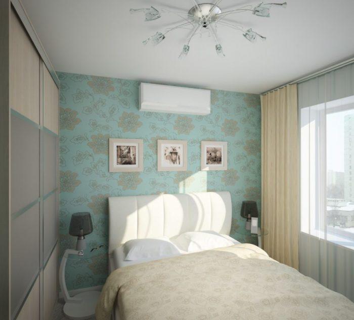 Шкаф-купе в маленькой спальне