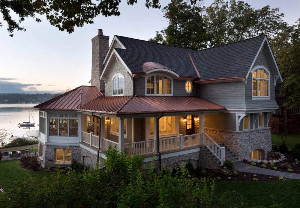 комбинированная крыша для дома с мансардой