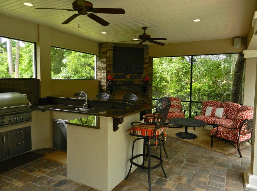 летняя кухня для загородной дачи