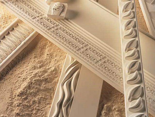 Когда-то декоративные детали отделки изготавливались исключительно из гипса