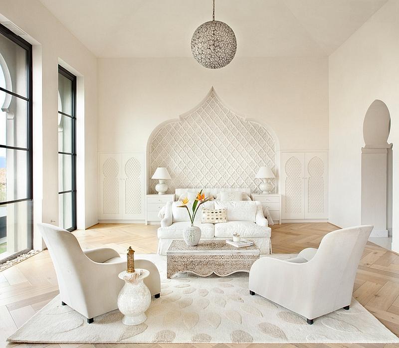 Ниша может стать центральным элементом дизайна комнаты