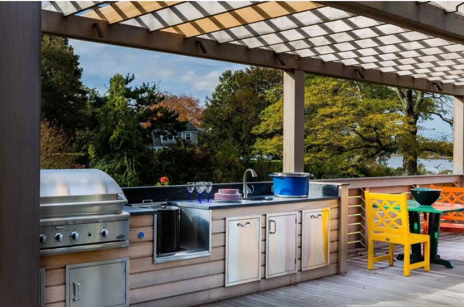 удобная летняя кухня