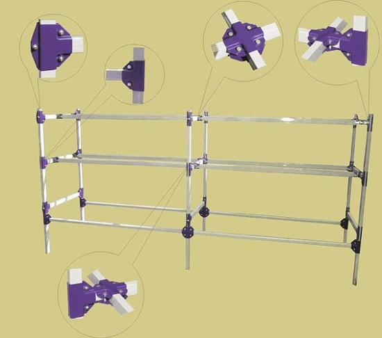 Монтажные хомуты для изготовления навеса из профтрубы малого сечения