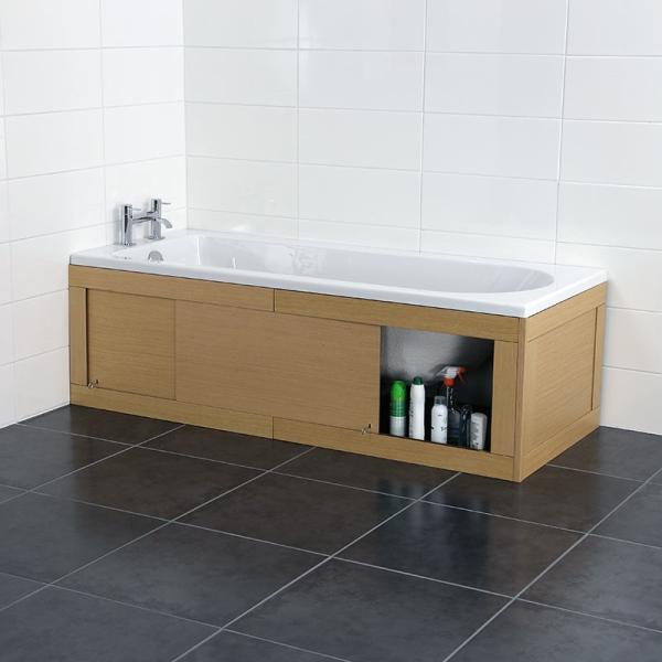 Практичный и удобный раздвижной экран под ванной