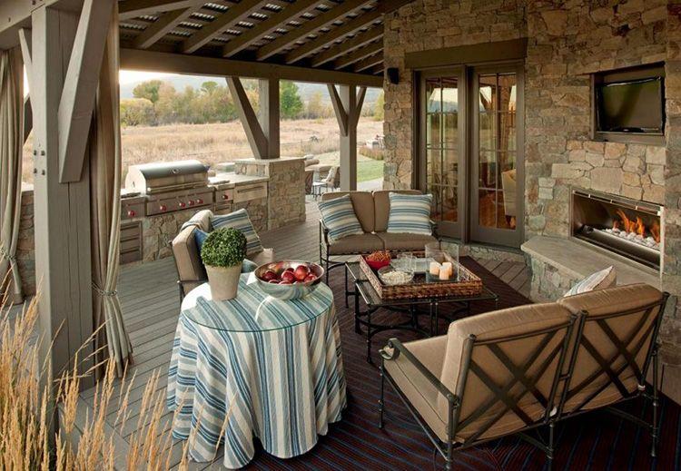 Летняя кухня на террасе дома