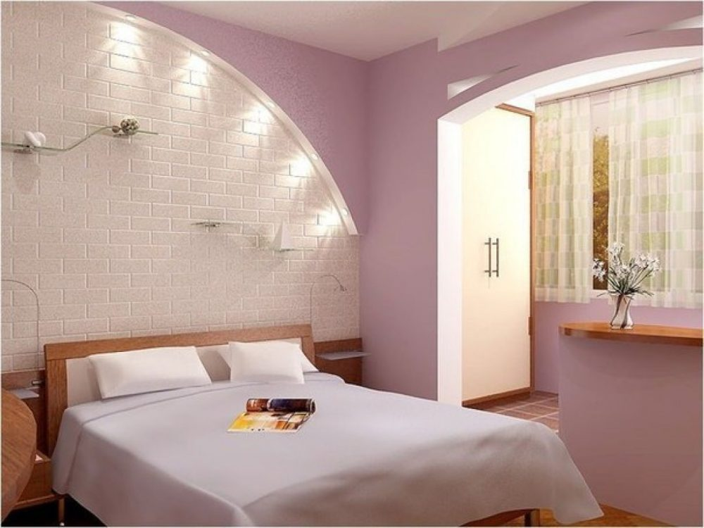 Дизайн спальни с кирпичной отделкой