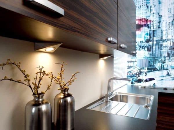 небольшие светодиодные светильники для кухни