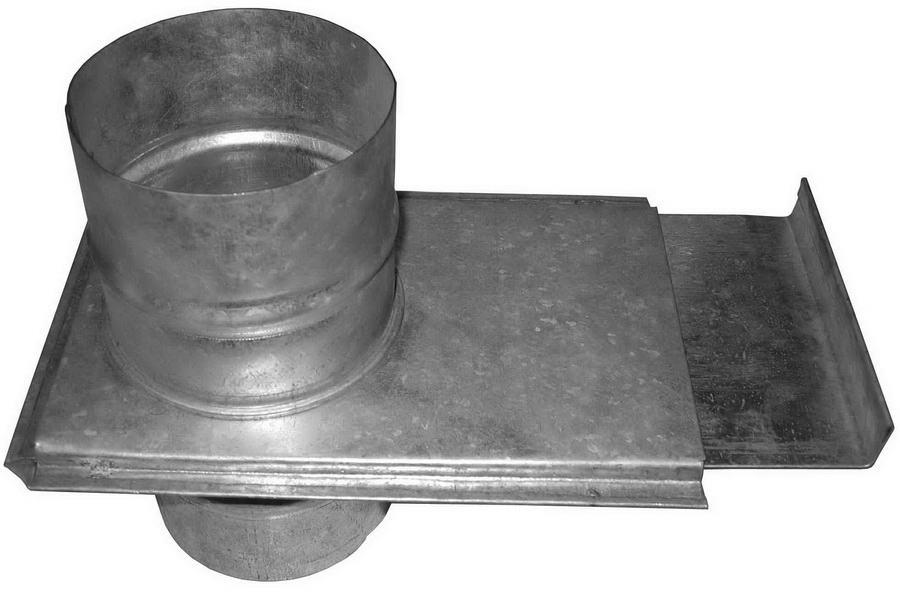 Шибер металлического дымохода для бани