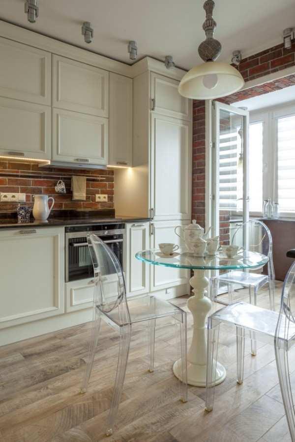 интерьер кухни 9 кв м с балконом, фото 14