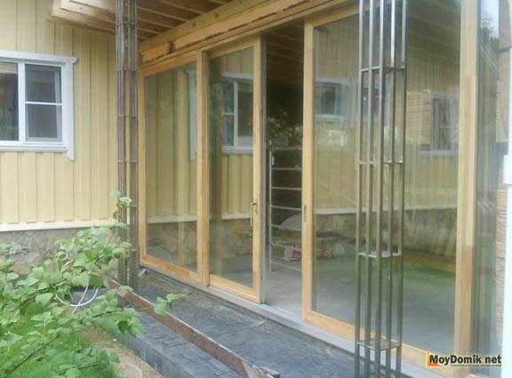 Раздвижные двери для веранды