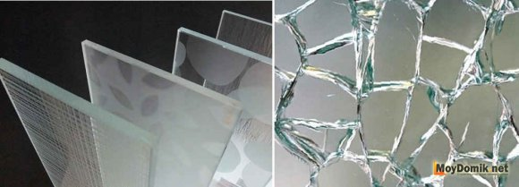 Закаленное стекло для безрамного остекления