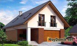 Простая двускатная мансардная крыша