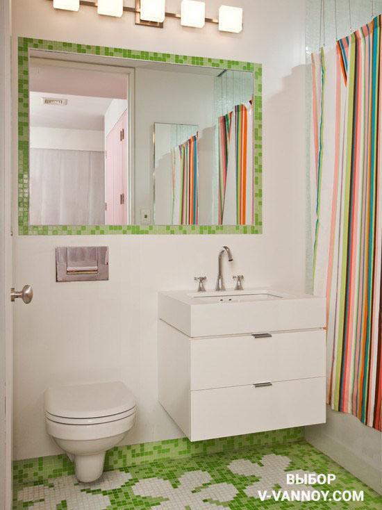 Цветовые акценты в облицовке помещения являются определенной изюминкой, которая добавляет оригинальности интерьеру.