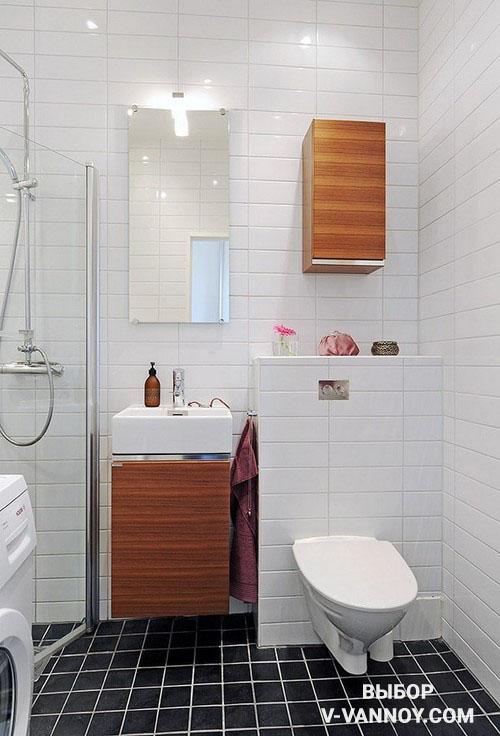 Яркими фрагментами в дизайне санузла также могут стать предметы мебели.