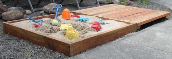Детская песочница своими руками для дачи
