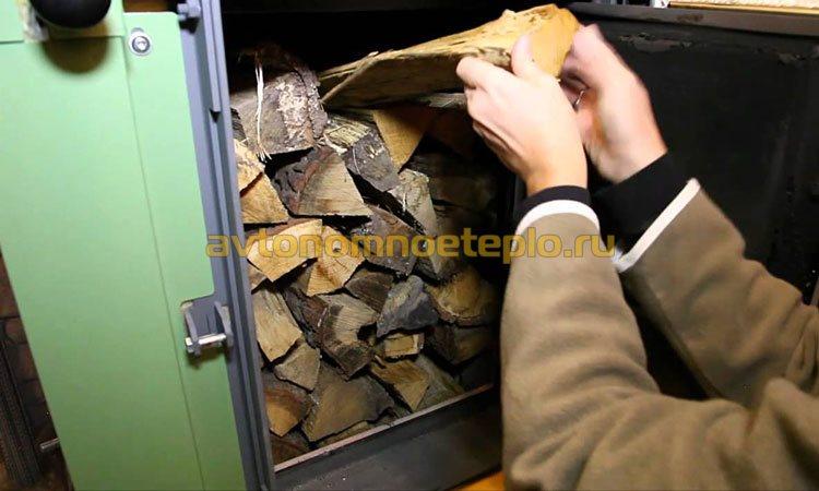 укладка дров