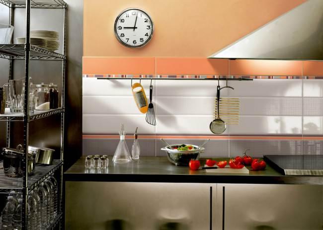 Оранжево-серая плитка